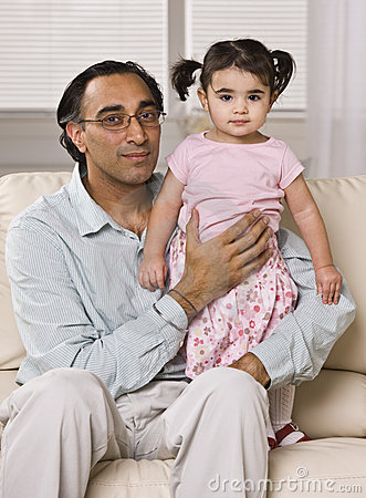 Father Holding Daughter
