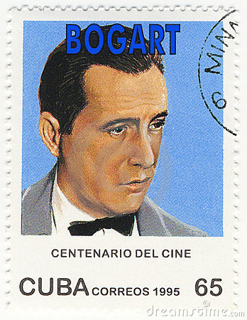 Stamp with actor Humphrey Bogart