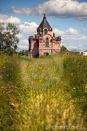Traditional russian churches in countryside