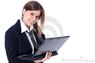 Businesswoman with PC