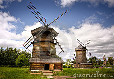 Windmill in Russian countryside