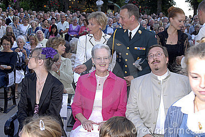 H.M.The QUEEM MARGRETHE AT OPENING NIGHT