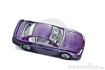 Purple Toy Car Miniature Mustang
