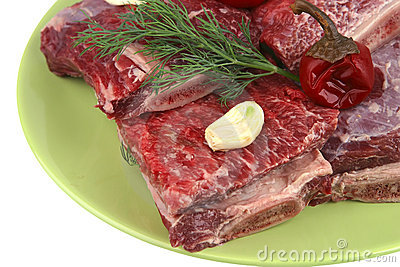 Uncooked ribs