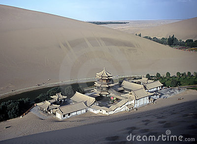 Dunes and Temple,China