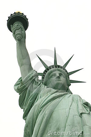 Statue of liberty long arm white