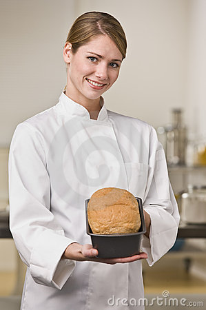Baker with Loaf of Bread