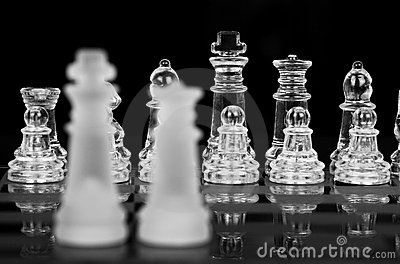 Chess King and Queen, Focus On Back