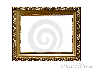 Empty horizontal frame for picture or portrait