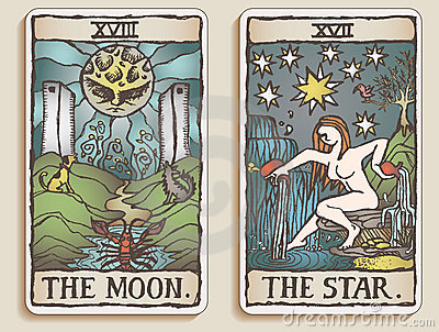 Two Tarot Cards v.5