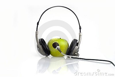 The apple listens