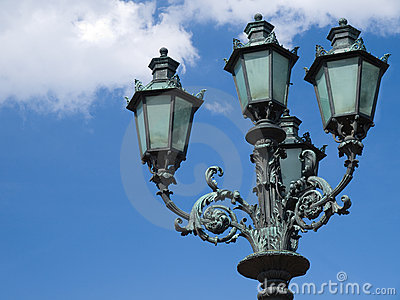 Street lamp in the sky