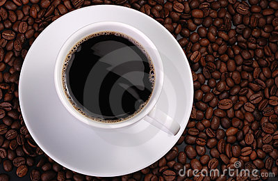 Cup of coffee with wave