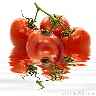 Tomatoes in water.