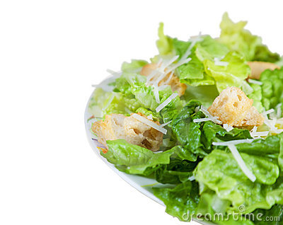 Side of Caesar Salad with Clipping Path