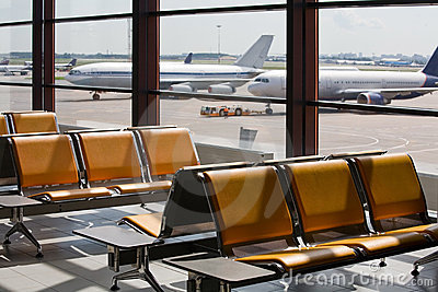 Airport in expectant of passengers
