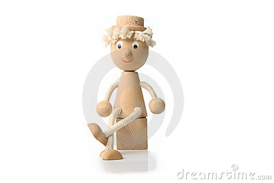 Wooden toy figure