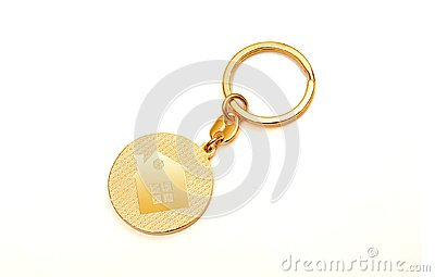 Buy your Dream House Key ring with home icon