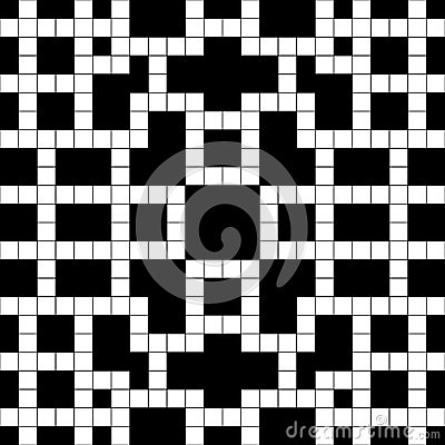 Simple black and white empty crossword. Puzzle