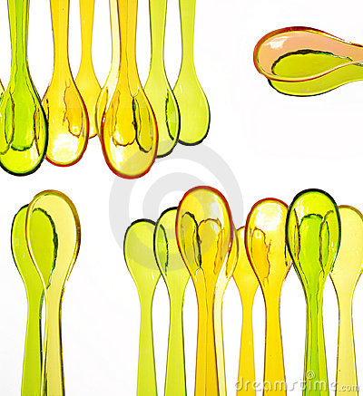 Coloured spoons