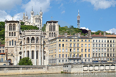 Fourvière hill and the Saint Jean cathedral