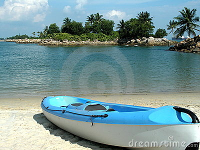 Sea Kayak on deserted beach