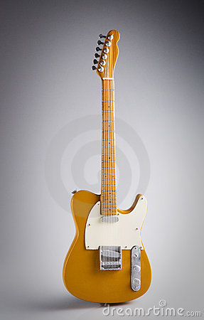 Isolated model guitar fender telecaster