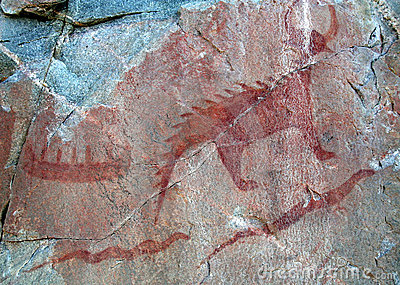 Agawa Pictographs - Canoe and Serpents