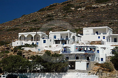 Hotels on the hill Folegandros Cyclades Greece