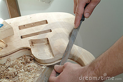 Construction of a guitar