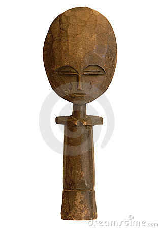 Wooden african sculture