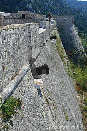 Fortress wall with cannons