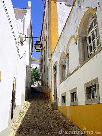 Typical street of Évora v