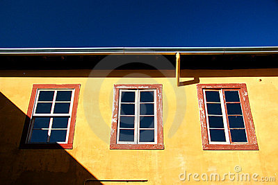 Bight yellow home exterior