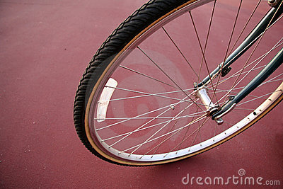 Bicycle Tire up-close