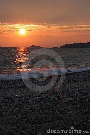 Agawa Bay Sunset - Vertical