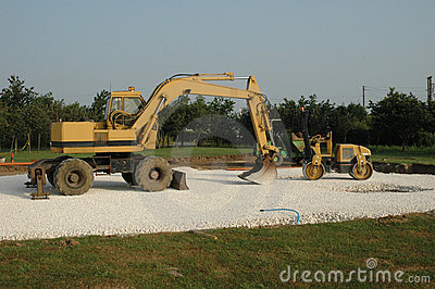 Two earth movers
