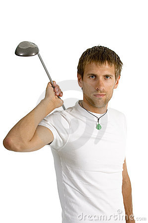 Man whit a golf club