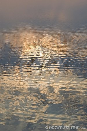Reflection of sunset