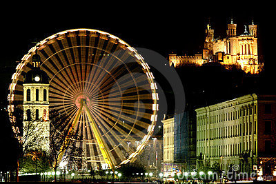 Big wheel in Lyon (France)