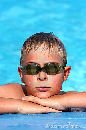 Boy at the pool