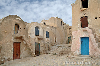 Medenine (Tunisia) : traditional Ksour (Berber Fortified Granary)