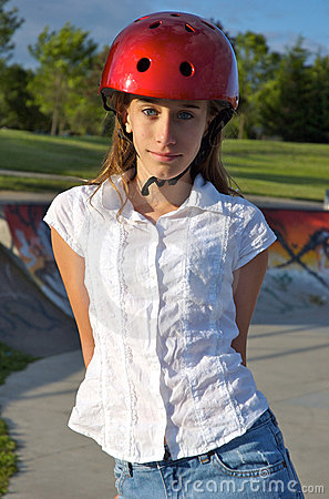 Girl at the Skate Park