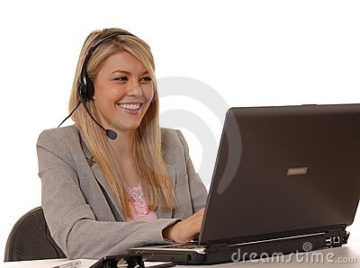 Help Desk Girl Smiling