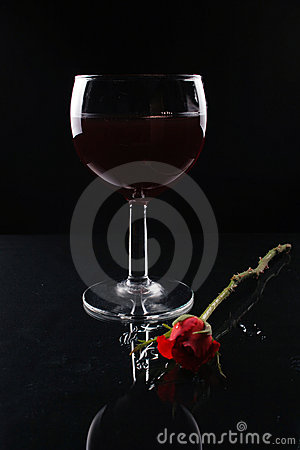 Wine and rose.