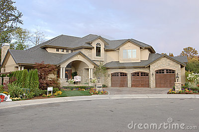 Front view of a house for sale