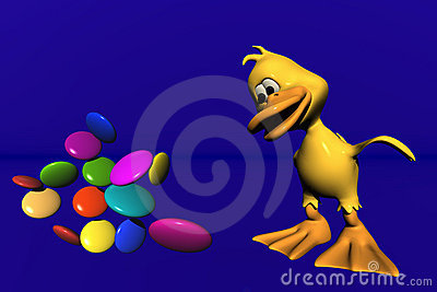 Duck and candy