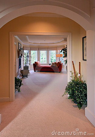 Grand entrance of a master suite