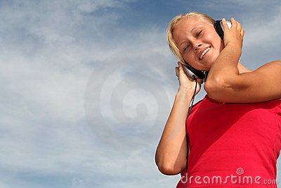 Woman Enjoying Music
