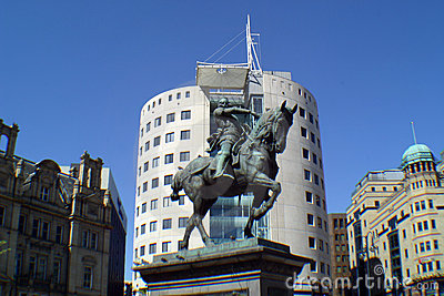 Office Block and Statue